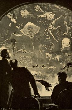 Zdenek Burian, Illustration for Jules Verne's '20,000 Leagues Under the Sea' , 1937