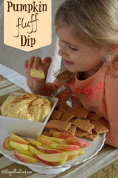 Pumpkin Fluff Dessert Dip from 100 Days of #RealFood #pumpkin - Please consider enjoying some flavorful Peruvian Chocolate this holiday season. Organic and fair trade certified, it's made where the cacao is grown providing fair paying wages to women. Varieties include: Quinoa, Amaranth, Coconut, Nibs, Coffee, and flavorful dark chocolate. Available on Amazon! http://www.amazon.com/gp/product/B00725K254