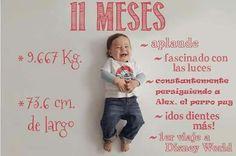 Excelente idea para plasmar los logros y desarrollo de tu bebé durante los primeros 12 meses. ¡Nos encanta!