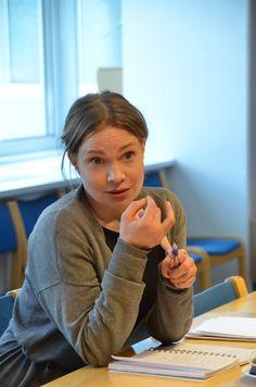 Anni-Kristiina Juuso kertoi Käsivarren Lapista ja porosaamelaisuudesta.