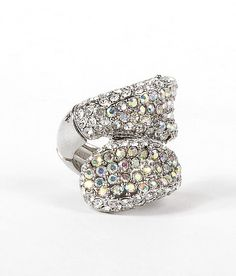 BKE Twisted Glitz Ring