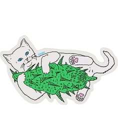"""You won't be able to keep yourself from smiling when you see the Rip N Dip Nermal Nug sticker. Add some instantly wild style to your board or any hard surface with the super sticky cat hugging a large <a class=""""translink"""" href=""""catal"""
