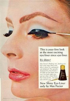 But shiny eyeliner is desirable