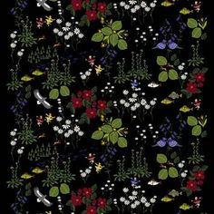 The beautiful Himlajorden fabric comes from the Swedish brand Arvidssons Textil and is designed by Louise Videlyck. The fabric has a pattern inspired by the song