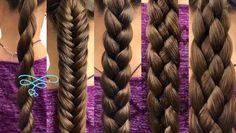 "5 Basic Braids In the spirit of new beginnings, we thought that we would start the year off with a ""Back to Basics"" tutorial. So this tutorial is going to cover five of the most basic braids that you can … Braiding Your Own Hair, Braids For Short Hair, Hair Braiding Tutorial, How To Braid Hair, Braid Hair Tutorials, Hair Tutorial Videos, Braids Easy, Braids Cornrows, Big Braids"