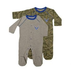 Trooper Clothing Infant Boys ABU Air Force One Pieces 2 Pc Set Grey 36 Months ** Want additional info? Click on the image.