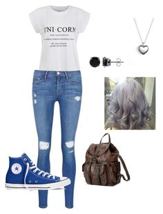 """chill"" by kksantanemo on Polyvore featuring Ally Fashion, Frame Denim, Converse, BERRICLE, Pandora, Frye, women's clothing, women, female and woman"