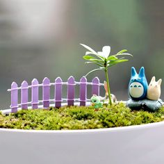10pcs fence miniatures fencing fairy garden gnome moss terrariums resin crafts decorations for home and garden kawaii