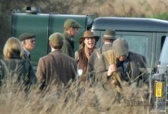 Prince William and Kate Middleton on a  pheasant shoot on the Sandringham estate, Norfolk. 02-12-06.