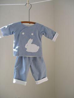 Baby Boy Kimono Top with Pants. $40.00, via Etsy.