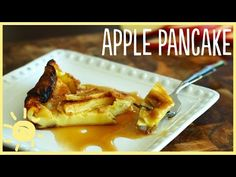 She Drizzles The Egg Mixture On Top Of The Apples. When It's Done Cooking? Mmmmmm!   Diply