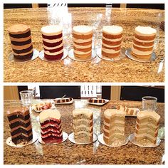 cake tasting ideas - Google Search Croquembouche, Profiteroles, Mini Cakes, Cupcake Cakes, Double Barrel Cake, Bake Sale Packaging, Gourmet Cakes, Cake Pricing, Naked Cake