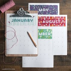 Printable 2015 Calendar - Lia Griffith