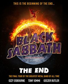 www.ConcertTour.us - BLACK SABBATH Announce Their 2016 Tour Plans, Trek Named 'The End Tour' - I've got my tickets!!