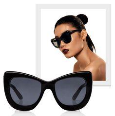 Óculos, como o maxi Queenie, têm perfume retrô e irreverência contemporânea (Foto: Divulgação)