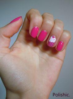 Polishic: #TUTO -- Si t'as faim... Mange tes ongles. Cupcake... Cupcake girls Nails Fun  DIY Tutorial Uñas pintadas pastellito divertido explicacion con imagenes Niñas