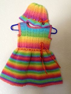 Lollipop colored crocheted sleeveless dress and by CraftyCMonster, $35.00