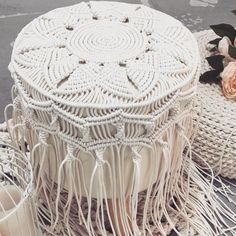 in progress macrame stool .. .. .. #matata#macrame#macramestool#interiordecorating#handcraft