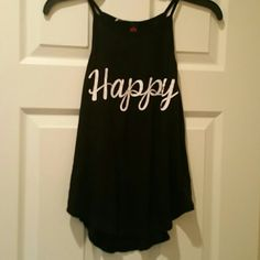 """NWOT Tunic """"Happy"""" """"Happy"""" on front, """"do what you love, love what you do"""" on back - New without tags ? ? Tops Tunics"""