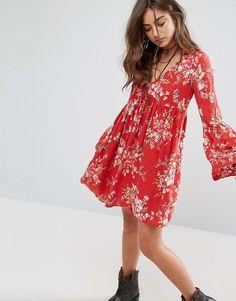 Denim & Supply By Ralph Lauren Floral Babydoll Printed Dress
