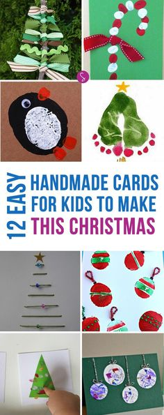 These homemade Christmas cards for kids to make are ADORABLE!
