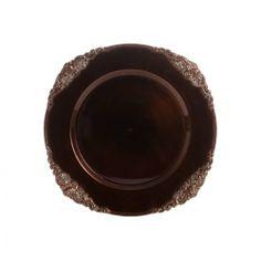 Koyal Wholesale Vintage Charger Plates, Chocolate Brown, Set of 24 Koyal Wholesale,http://www.amazon.com/dp/B00BVX816U/ref=cm_sw_r_pi_dp_JHHCtb0NRB4XCXYM
