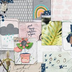 Grow | The Lilypad Watercolor Background, Paper Background, Scrapbook Templates, Scrapbook Pages, How To Get Warm, Hello Spring, Beach Babe, Journal Cards, Pattern Paper