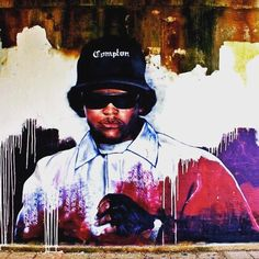 Street art is hip hop #streetart #graffiti #streetartishiphop #hiphop #RIPEazyE #nwa #hiphoppioneers #80shiphop #realhiphop #eazye #compton
