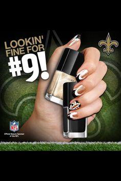 New Orleans Saints manicure