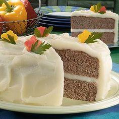 April Fool's Day faux cake...actually just meatloaf and mashed potatoes!