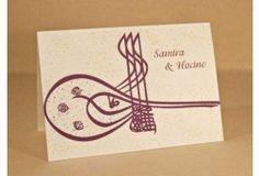 Faire part #ORIENTAL #Faire part Calligraphie #arabe TUGHRA http://www.tour-babel.com/faire-part-mariage/faire-part-oriental.html