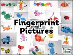 Have KG kiddos make images from their fingerprints