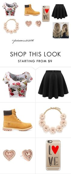 """"""":)"""" by princess212146 ❤ liked on Polyvore featuring Timberland, J.Crew, Michael Kors and Casetify"""