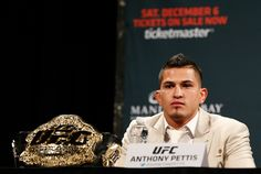 The spur of the moment can create many things, some a fighter will regret later on. So after the internet blew up last week with UFC lightweight champion Anthony Pettis' assertion that he will need. Ufc News, Slacks, Champs, Mma, My Eyes, The Secret, Workout, Work Outs