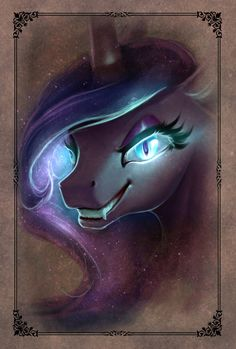Princess Luna turning into Nightmare Moon.