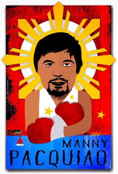 Philippine Icon #1 - Manny Pacquiao Manny Pacquiao, Training, Logos, Artwork, Movie Posters, Movies, Work Of Art, Films, Work Outs