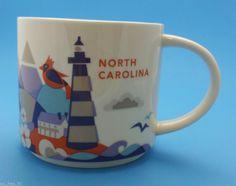 Starbucks Coffee Mug North Carolina YOU ARE HERE collection 2013 Gift Box #Starbucks #CoffeeMug #NorthCarolinaYOUAREHEREcollection2013