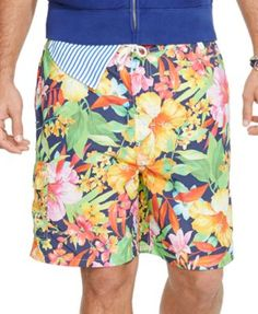 Polo Ralph Lauren Big and Tall East Hampton Floral Swim Trunks