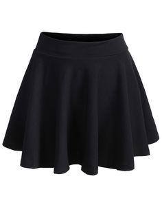 falda plisada cintura elástica-(Sheinside)