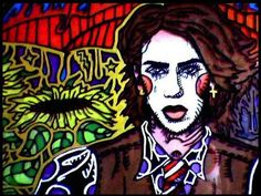 "Artist Vinny Michaud ""Self Portrait of a Clown"" painting on glass. Religious, Creature, Alien, Occult, Portraits & space Art by Vincent Michaud.  http://www.vincentmichaud.vision/painting/"