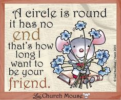 A little message from me to you ❤️ #LittleChurchMouse