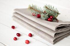 Placemats – Linen napkins set of 6 – a unique product by linenhomeshop on DaWanda