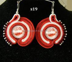 flov design: red lips - kolczyki sutasz, earring soutache