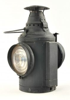 """Train Order Signal Lamp manufactured by Dressel, Arlington N.J. with two clear lenses on opposite sides, no pot or burner included. size: 14.5"""" t."""