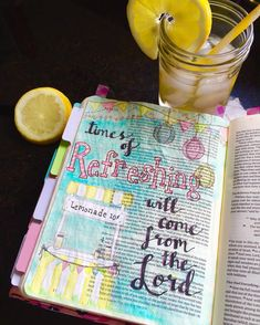 Hey Bible Journaling Community  Don't you love it when your pastor is reading from the Word and God instantly gives you a vision of how to journal it in your Bible??  I know you all know what I'm talking about.   This one's for you Pastor Chuck.  @chuckbooher @pameeboo #iloveGodsWord #acts  #lemonadestand ##BibleJournaling #IllustratedFaith#shepaintstruth #BibleJournalingCommunity #journalBible #handlettering #calligraphy @illustratedfaith @tyndalehouse by cyn4jesus