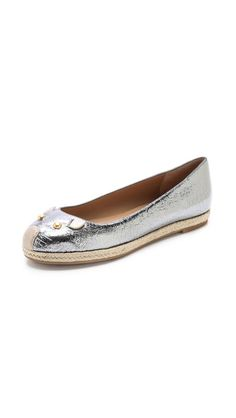 marc by marc jacobs metallic mouse espadrilles.