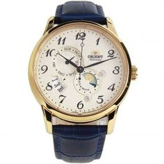Orient Sun Moon Automatic Male Watch with Extra Strap Male Watches, Orient Watch, Moon Watch, Automatic Watches For Men, Sun Moon
