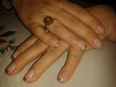 Manicura francesa dorada Class Ring, Jewelry, White French Tip, French Nails, Jewellery Making, Jewerly, Jewlery, Jewelery, Ornament