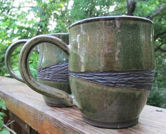 Handmade ceramic mugs  SHEFTER REGISTRY by LaurenWellborn on Etsy, $16.00