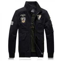 Plus Size Warm Thick Cotton Jacket Wool Men Winter Air Force One Military Overcoat Men's Coat Male Army Casual Sportwear,UMA158